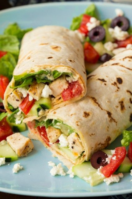 Greek Chicken Salad Wrap