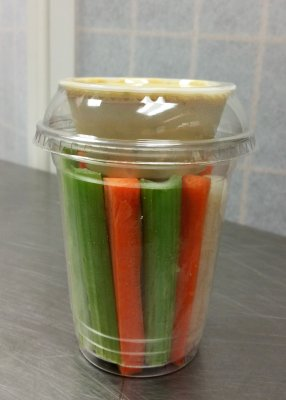 Individual Veggie Sticks Cups with Dip