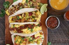 BUILD YOUR OWN BREAKFAST TACO BAR