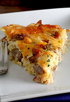 Ranch Quiche Breakfast Casserole