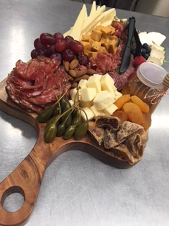 Charcuterie Board with Bread Basket - Small