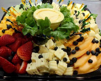 Fruit & Cheese with Crackers Tray