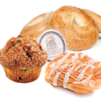 BOX OF BAGELS & PASTRIES (serves up to 24) - ea. 140-510 Cals