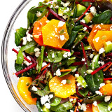Green Salad with Beets Oranges and Avocados