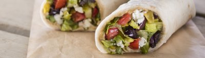 Zeus  (Greek Wrap)- Vegetarian