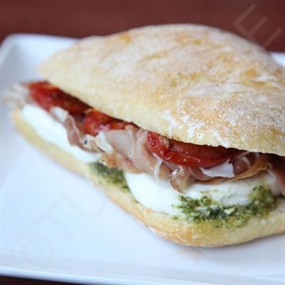 Proscuitto, Tomato, Basil and Fresh Mozzarella