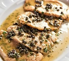 Chicken Picatta with White Rice