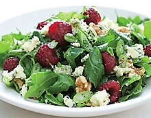 Baby Greens with Fresh Raspberries