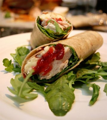 Sweet and Spicy Turkey Cheddar Wrap