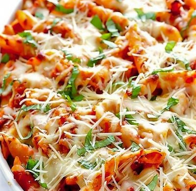 Traditional Baked Ziti with Garden Vegetables