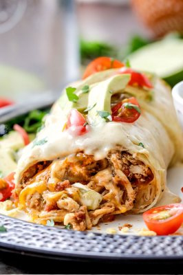 Chicken Burrito with Mexican Rice