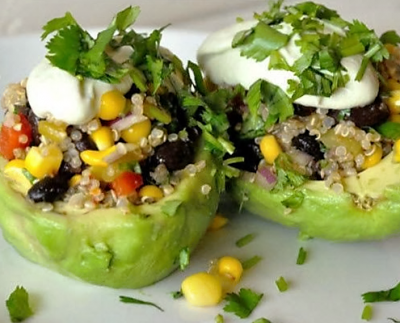 Vegetarian Spicy Quinoa Stuffed Avocado