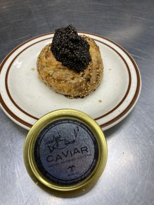 Knishes and Osetra Caviar Image